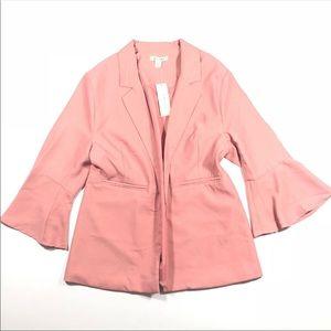 NWT Francescas Miami Pink Bell Sleeve Blazer